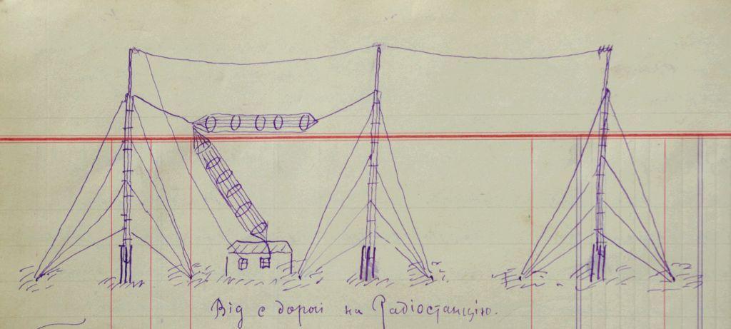 Зарисовка сооруженной радиостанции в Твери.